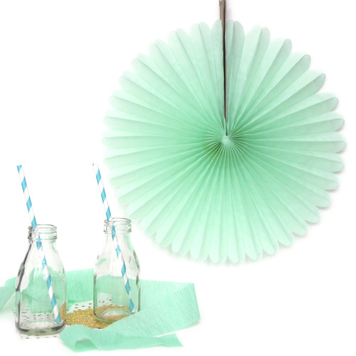 Mint Small Paper Fan