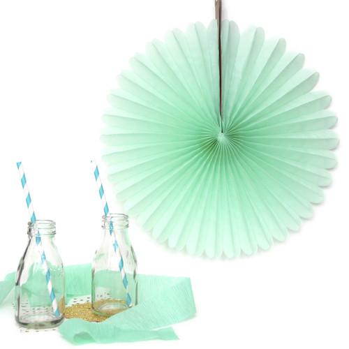 Mint Small Paper Fan