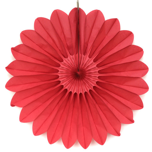 Red Deluxe Tissue Paper Fan Decoration for Birthday Parties, Weddings, Baby Showers and Hen Dos