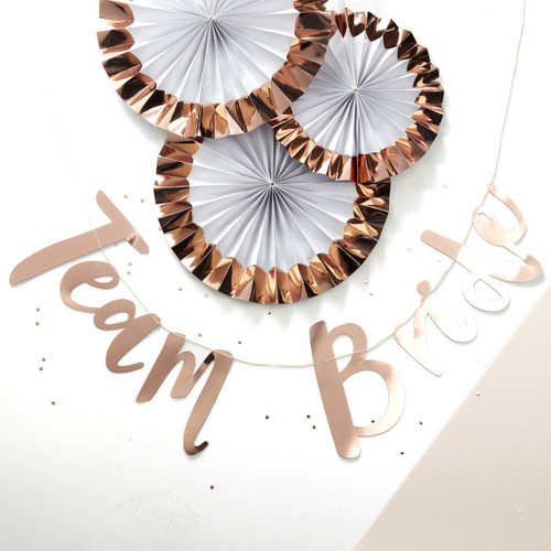 Rose gold hen party Team Bride bunting for hen dos