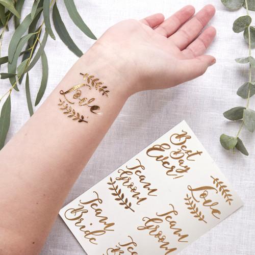 Rose Gold Wedding Temporary Tattoos