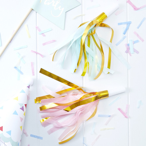 Tassel Party Horns for Birthday Parties