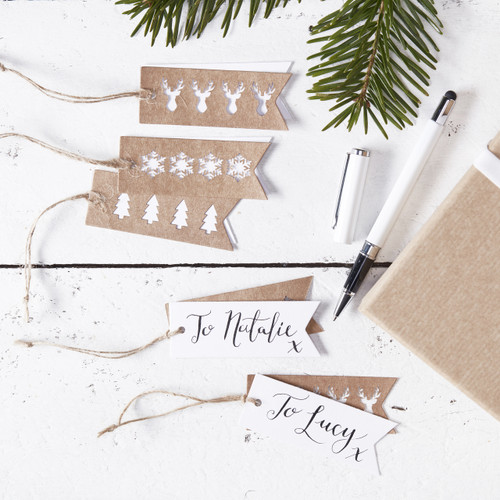 Rustic Kraft Gift Tags for Presents and Gift Wrapping