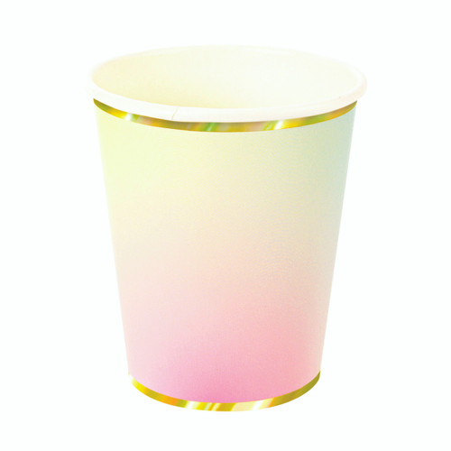 Pastel ombre paper party cups