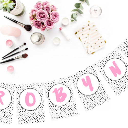 Personalised Polka Dot Bunting for baby showers, hen dos, birthday parties and weddings