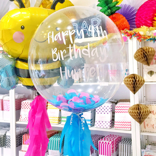 Personalised Bubble Confetti Balloon for birthday gift, special and unique present for a friend, loved one or family member
