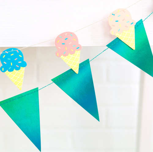 Ice Cream Party Bunting