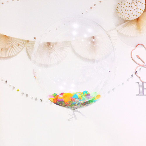 Bubble balloon filled with confetti for birthday parties, hen dos and celebrations