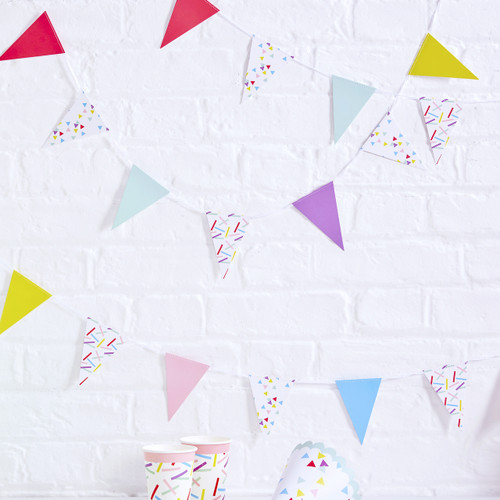 Rainbow Sprinkles Party Bunting Decoration