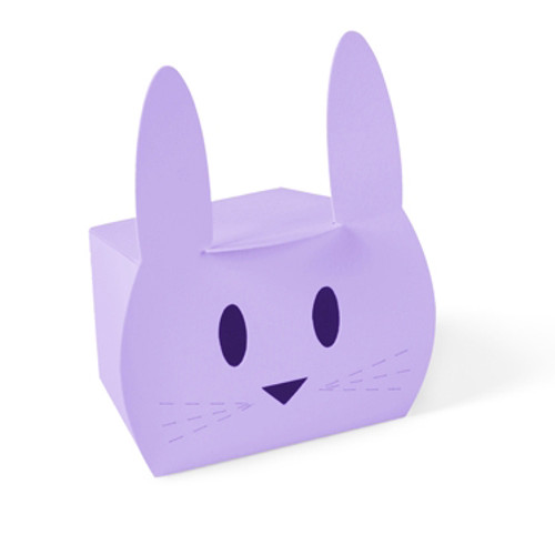 Lilac purple bunny rabbit gift box for Easter, children's birthday parties or presents
