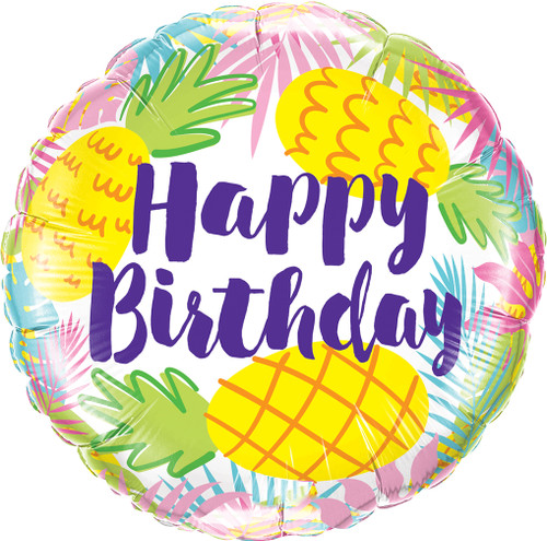 Happy Birthday Pineapple Balloon makes a wonderful gift and original birthday present