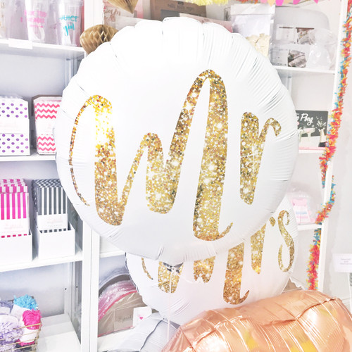 Mr Gold Glitter Foil Balloon for Hen Parties and Weddings