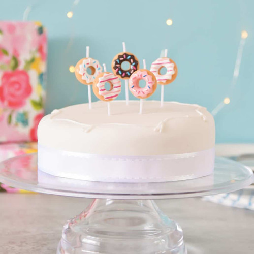 Doughnut Birthday Party Cake Candles