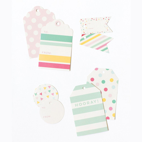 Stylish rainbow gift tags for beautiful presents and colourful gift wrapping