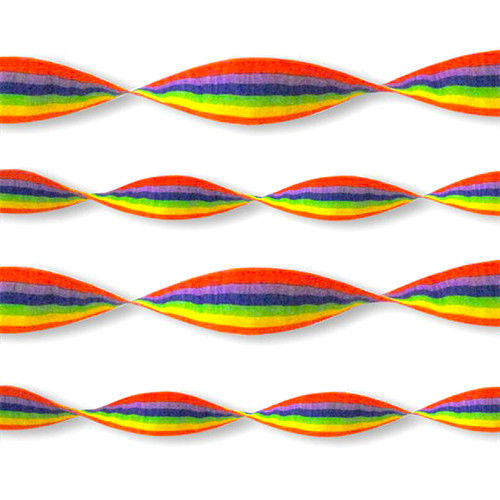 Rainbow Crepe Paper Streamer Decoration for birthday parties and celebrations