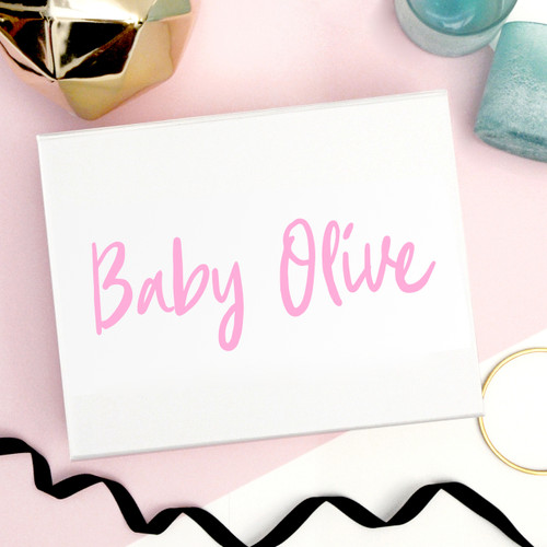 Luxury personalised new baby gift box to create a present for your friend, mum to be or new family to treasure their newborn mementos.
