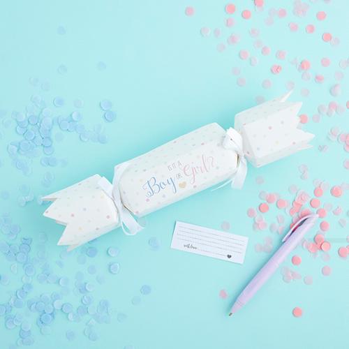 Baby Shower Gender Reveal Cracker
