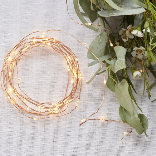 Rose Gold String Fairy Lights for Weddings, Hen Party or Home Decor