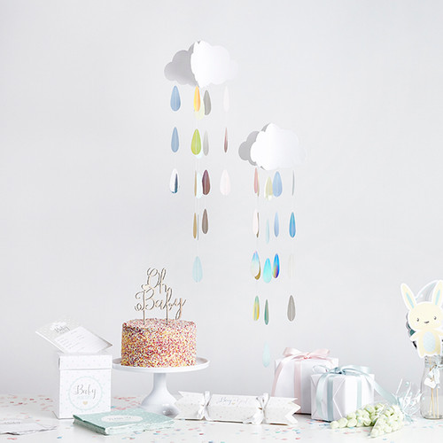 Hanging Cloud and Droplets Decoration