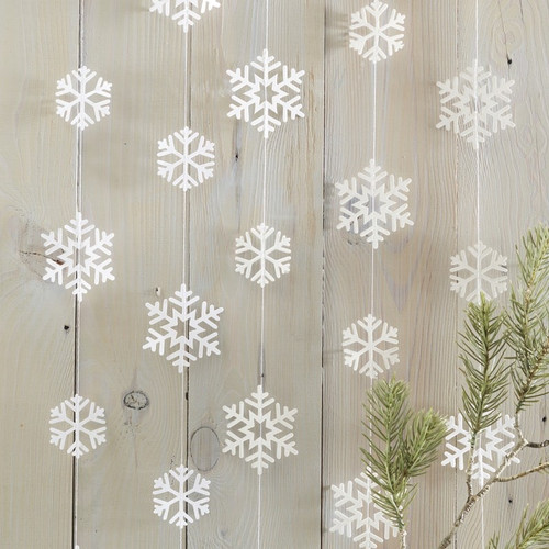 White Snowflake Garland Christmas Decoration