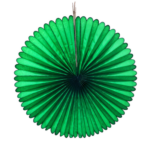 Dark Green Tissue Paper Fan Decoration for Birthday Parties, Weddings, Baby Showers and Hen Dos