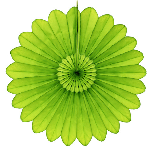 Light lime Green Deluxe Tissue Paper Fan Decoration for Birthday Parties, Weddings, Baby Showers and Hen Dos