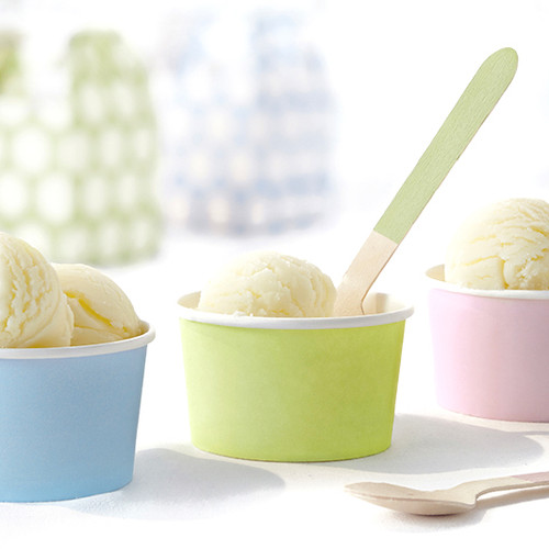 Pastel ice cream party snack cups
