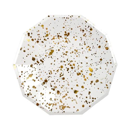 Gold Splatter Plates