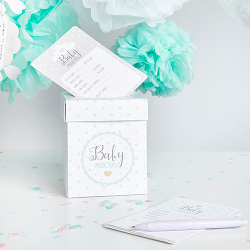 Baby Shower Prediction Cards and Post Box Set Party Accessor for a Fun Baby Shower Activity