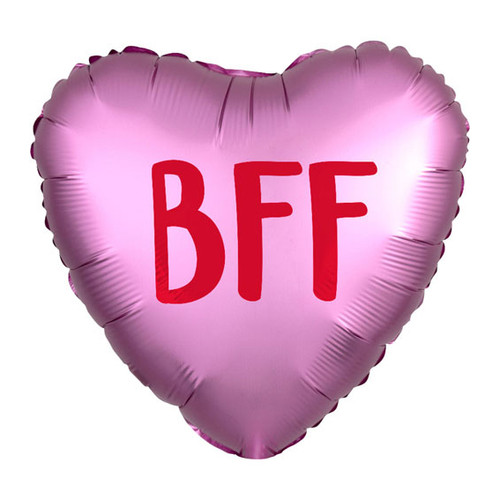 BFF Heart Helium Foil Balloon Party Decoration for Valentine's or Galentine's Day and Friend's Birthday Parties