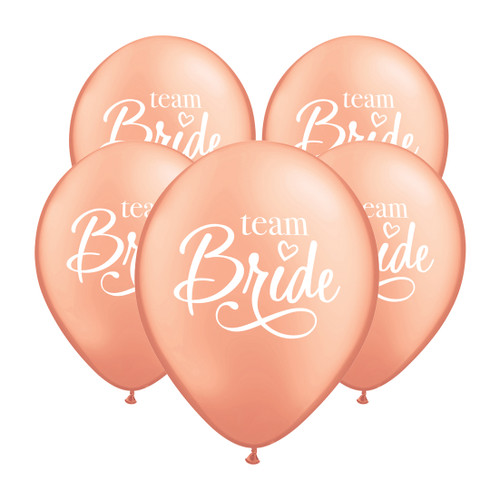 Team Bride Helium Foil Balloon Party Decoration for Hen Party and Bridal Shower Venue Decor