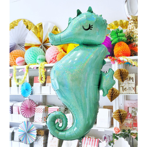 Seahorse Helium Balloon Party Decoration for Under the Sea and Mermaid Parties