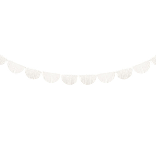 Ivory Scallop Fringe Garland Party Decoration for Baby Shower, Hen Party and Wedding Venue Decor