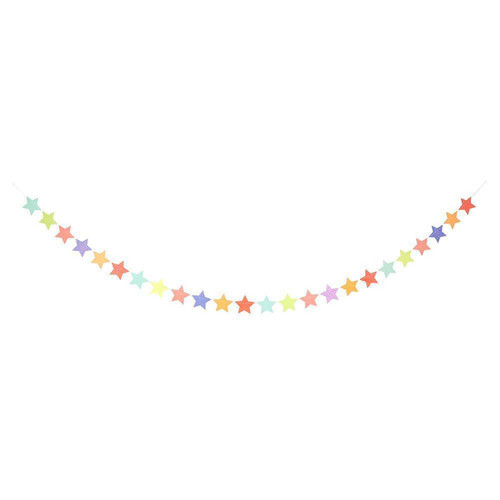 Multi Coloured Star Garland Party Decoration for Birthday Parties and Baby Showers Venue or Nursery Bedroom Decor