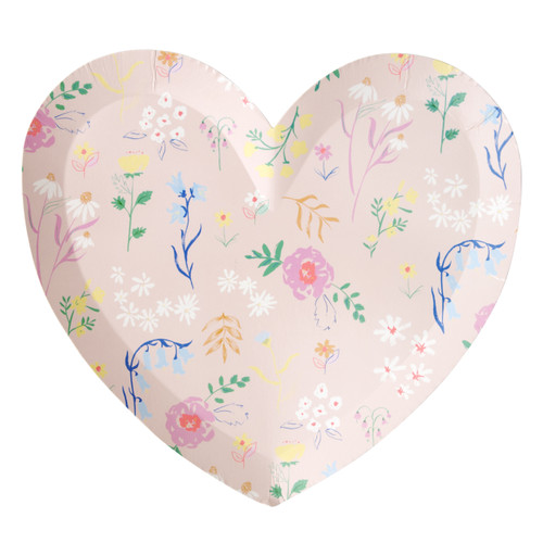 Floral Heart Plates Party Tableware for Hen Parties, Baby Showers and Birthdays