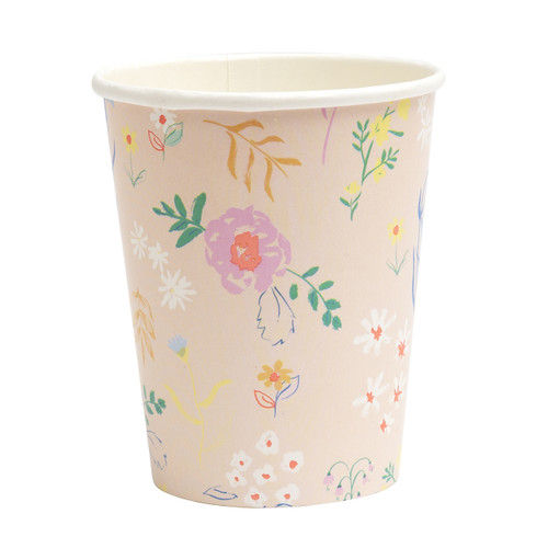 Floral Pastel Cups Party Tableware for Hen Parties, Baby Showers and Birthdays