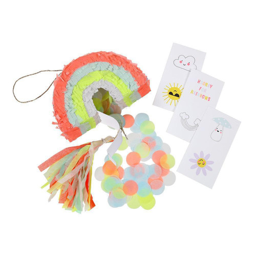 Mini Rainbow Pinatas Party Accessory for Birthday Party and Wedding Favour Bags