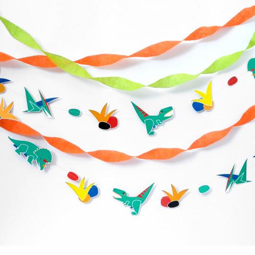 Dinosaur Garland Party Decoration for Dinosaur Themed Children's Birthdays