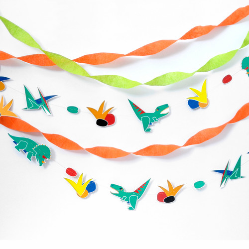 Dinosaur Garland Party Decoration for Dinosaur Themed Children's Birthdays