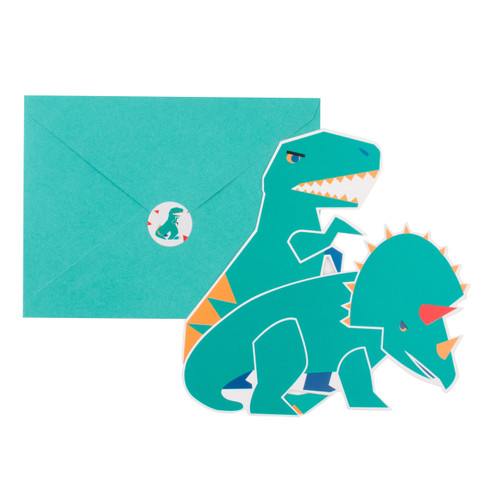 Dinosaur Invitations Party Accessory for Dinosaur Themed Children's Birthday
