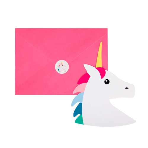 Unicorn Invitations Party Accessory for Unicorn Themed Children's Birthdays