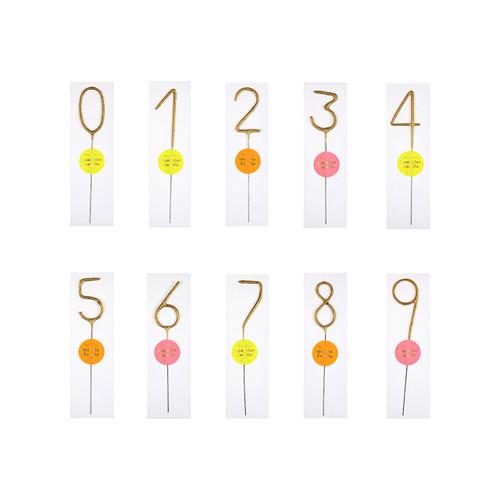 Number Sparkler Candle