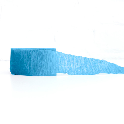 Turquoise crepe paper streamers for birthday parties, hen dos, baby showers and weddings