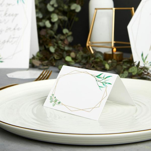 Geometric Foil Place Cards