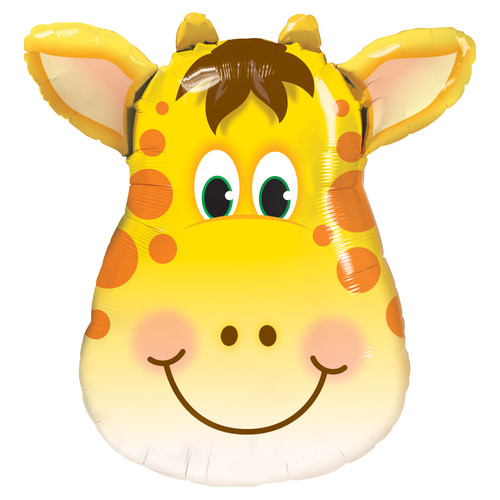 Giraffe Balloon for Jungle, Zoo or Circus Themed Birthday Parties