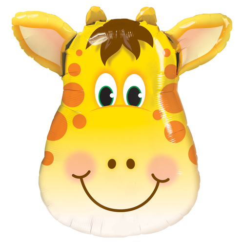 Giraffe Balloon for Jungle, Zoo or Circus Themed Birthday Parties