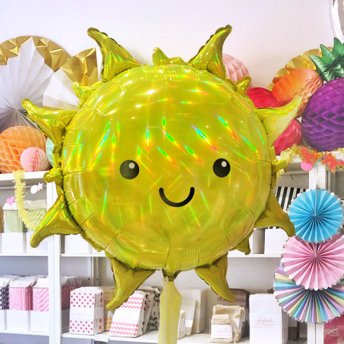 Holographic Sun Balloon Party Decoration for Tropical Summer Birthdays, Garden Parties or Baby Showers
