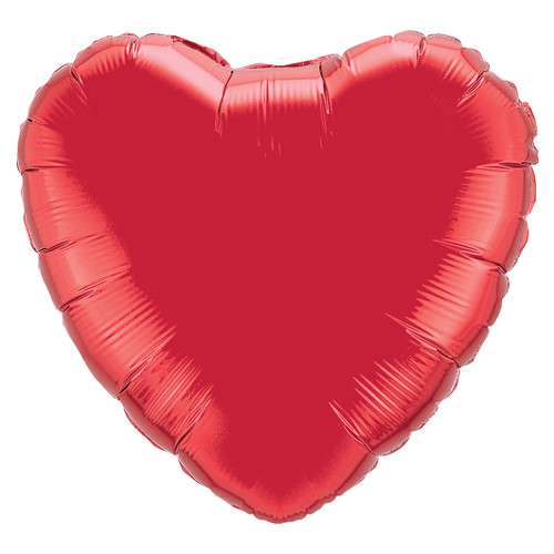 Small Red Heart Foil Balloon for Valentines, Weddings and Hen Parties