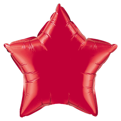 Small Red Star Foil Balloon for Superhero Themed Parties and Birthdays