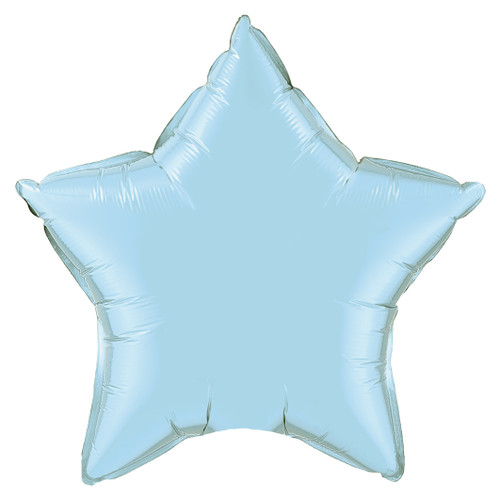 Small Light Blue Star Foil Balloon for Birthdays, Weddings and Baby Showers